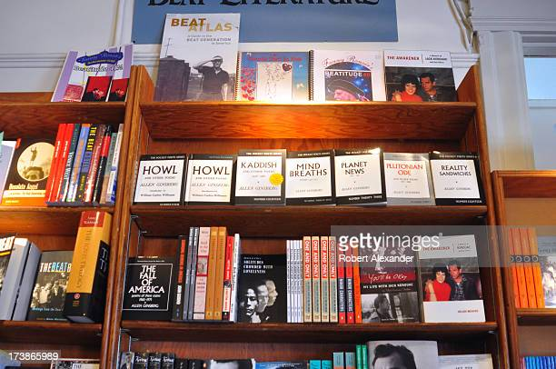 Shelf filled with books at the City Lights Bookstore, an independent bookstore founded in 1953 by poet Lawrence Ferlinghetti and Peter Martin on...