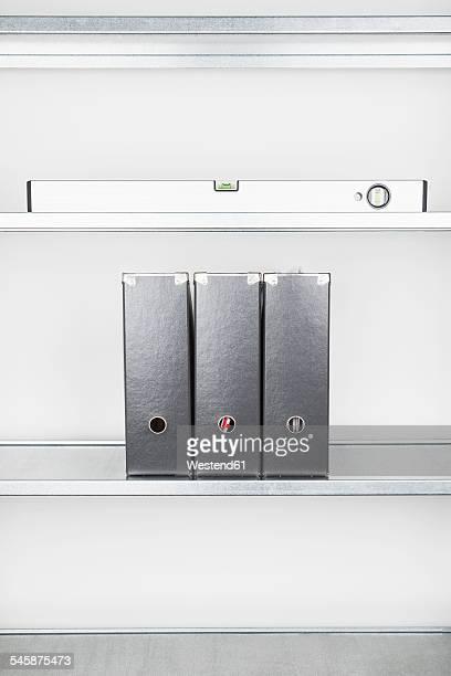 Shelf, water level and folders