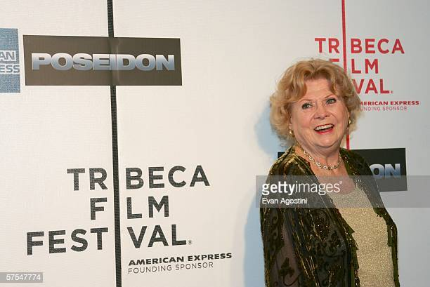 """Shelia Allen, wife of Irwin Allen attend the """"Poseidon"""" premiere at the Tribeca Performing Arts Center May 6, 2006 in New York City."""