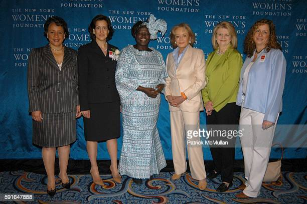 Shelia Johnson Barbara Wynne Dr Wangari Maathai Barbara Walters Geraldine Laybourne and Abby Disney attend The New York Women's Foundation 2005...