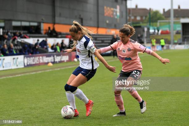Shelina Zadorsky of Tottenham Hotspur and Courtney Sweetman-Kirk of Sheffield United during the Vitality Women's FA Cup 5th Round match between...