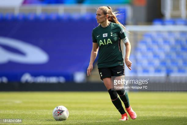 Shelina Zadorsky of Tottenham Hotspur during the Vitality Women's FA Cup Fourth Round match between Reading Women and Tottenham Hotspur Women at...