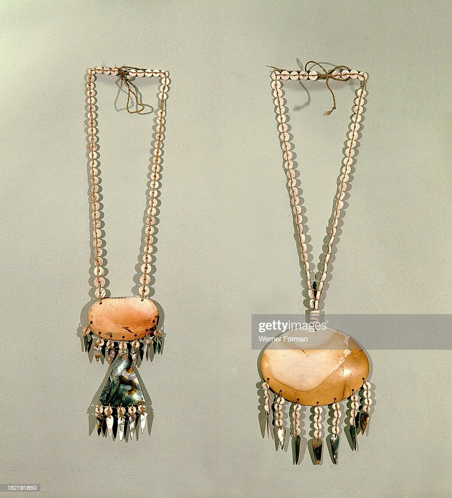 Shell bead necklaces with stone and abalone shell pendants pictures shell bead necklaces with stone and abalone shell pendants used in the kuksu cult for aloadofball Choice Image