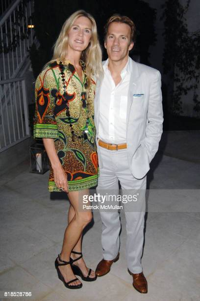 Shell Cardon and Craig Cardon attend Alex Hitz' Summer Dinner Party at a Private Residence on August 18th 2010 in Hollywood Hills California