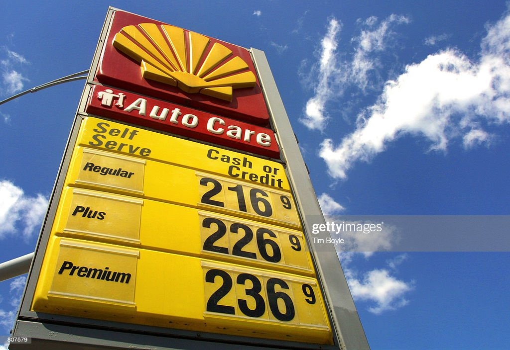 A Shell Gas Station Displays Its Gas Prices April 24 2001 In