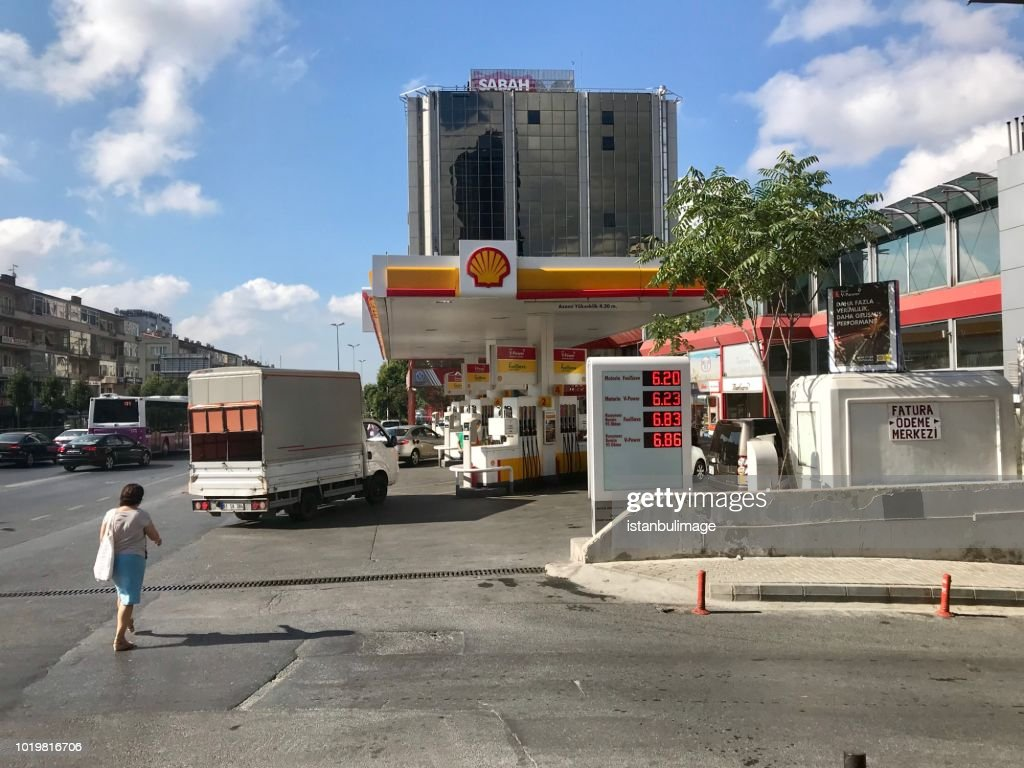 Shell Gas Station In Balmumcu District Stock Photo - Getty