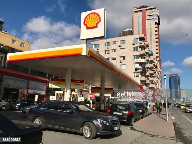 Shell Tankstelle in Balmumcu Bezirk