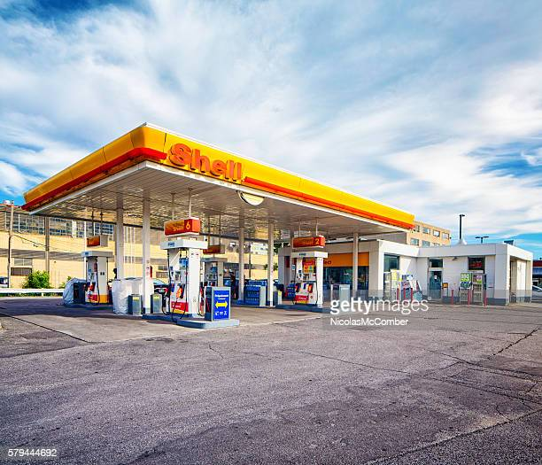 Shell gas station in Montreal Canada