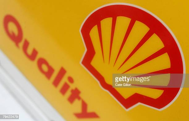 Shell logo is displayed at a petrol station on the day Shell announced record profits, on January 31, 2008 in London, England. The company Royal...