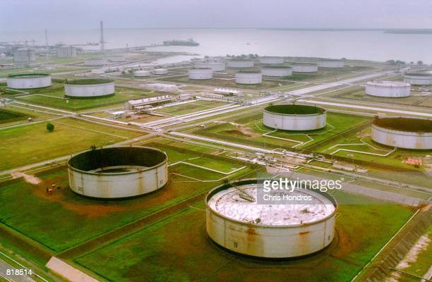 Shell owned pumping site in the Niger Delta region of Nigeria is shown March 27 2001 The US Supreme court cleared the way March 26 2001 for the...