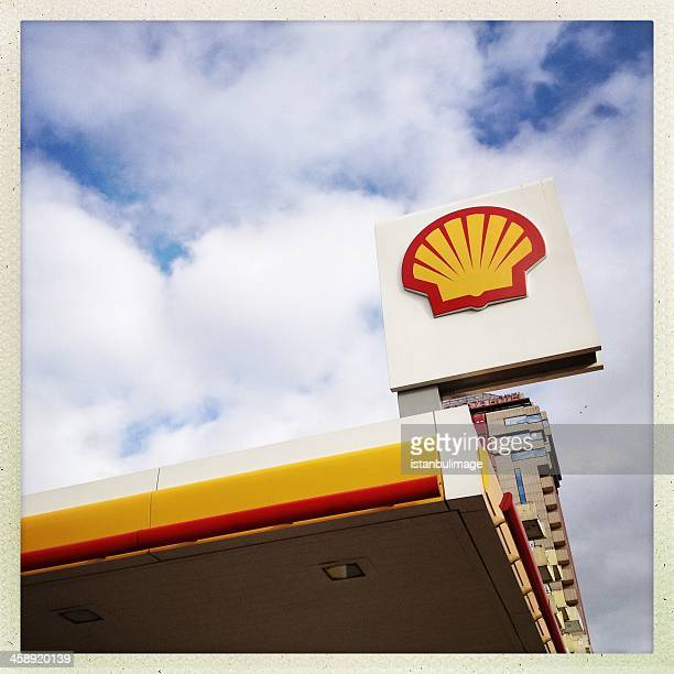 shell station - shell brand name stock pictures, royalty-free photos & images