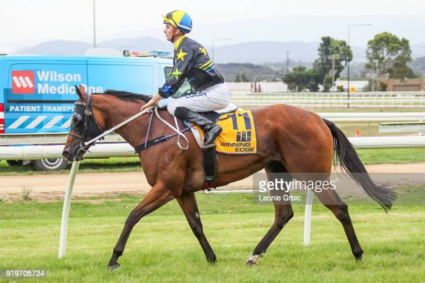 She'll Strykeya ridden by Jye McNeil returns after winning the helloworld BM64 Handicap at Moe Racecourse on February 18 2018 in Moe Australia