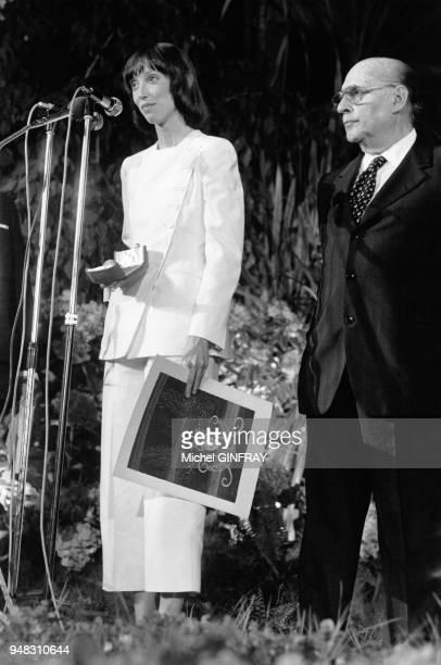 Shelley Duvall et Roberto Rossellini au festival de Cannes en 1972.