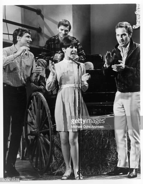 Shelley Fabares as Amy Carter a country and western recording artist sings in a scene from the movie A Time to Sing circa 1968