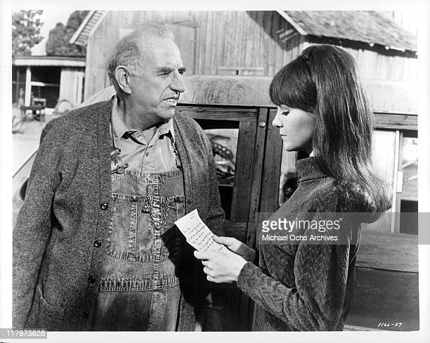 Shelley Fabares tries to persuade Ed Begley to take back his nephew in a scene from the film 'A Time to Sing' 1968