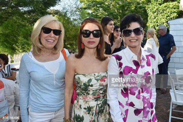 Shelley Goldberg, Jean Shafiroff and Arlene Lazare attend the Private Hamptons Preview of The Ritz-Carlton Residences, Sunny Isles Beach at Kozu on...