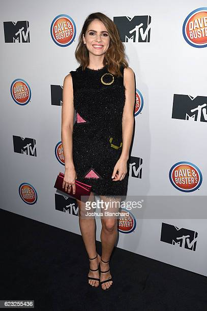 Shelley Hennig arrives at MTV's 'Teen Wolf' and 'Sweet/Vicious' Premiere Event on November 14 2016 in Los Angeles California