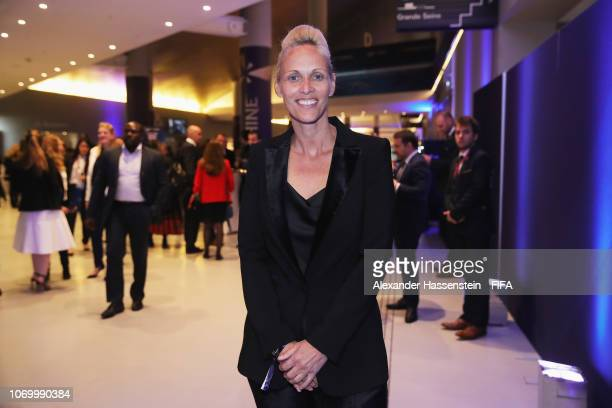 Shelley Kerr coach of Scotland arrives for the FIFA Women's World Cup France 2019 Draw at La Seine Musicale on December 8 2018 in Paris France