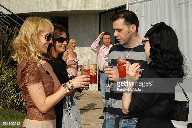 Shelley Meyers Marilyn Heston Roland Mouret and Dita von Teese attend Roland Mouret Hosts a Diamond Aquifer Luncheon at Soho House on February 24...
