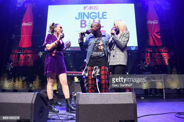 Shelley Rome Maxwell and Alli Simpson perform at the Z100 CocaCola All Access Lounge at Hammerstein Ballroom on December 8 2017 in New York City