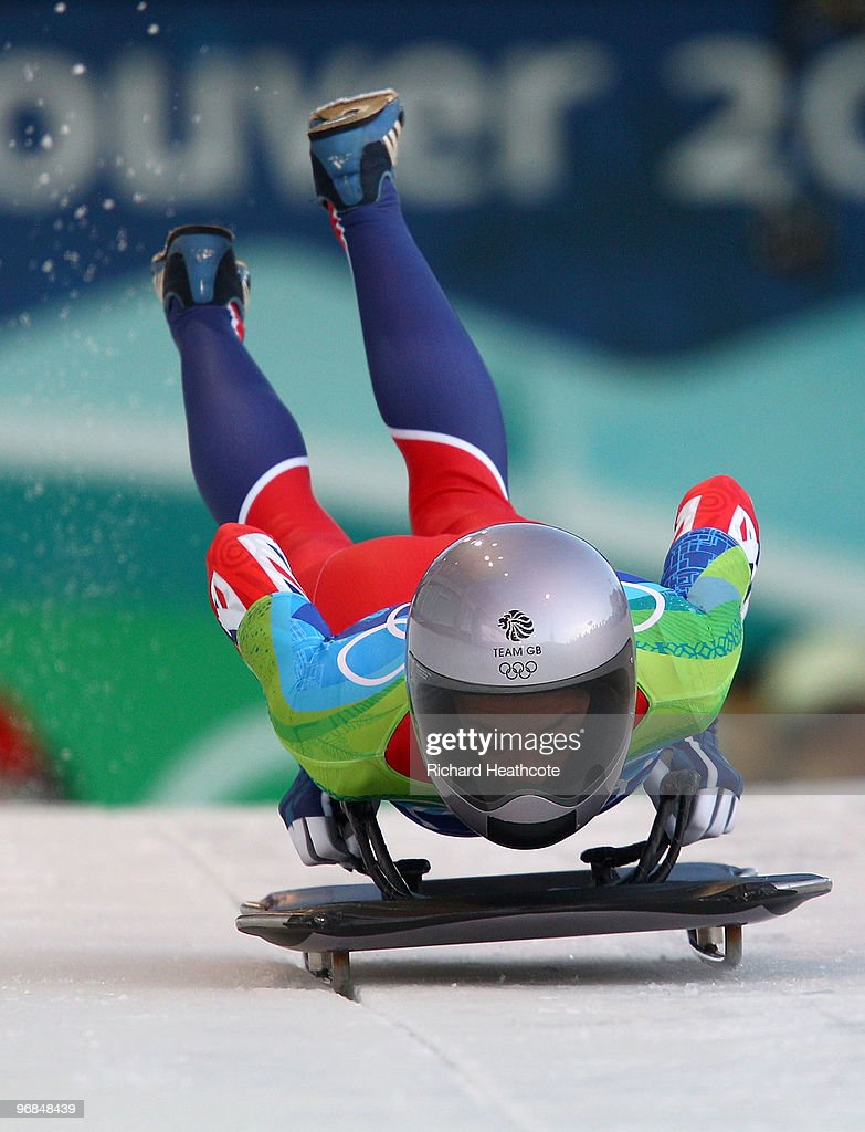 Shelley Rudman of Great Britain and Northern Ireland competes in the women's skeleton on day 7 of the 2010 Vancouver Winter Olympics at The Whistler Sliding Centre on February 18, 2010 in Whistler, Canada.