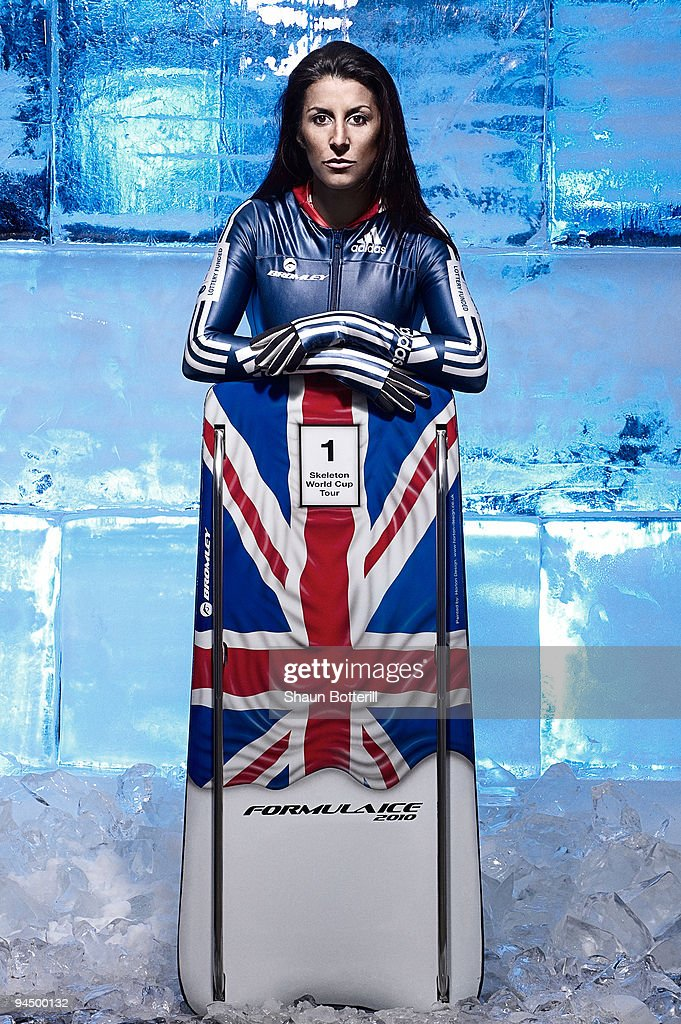 Shelley Rudman of Great Britain poses during a photo session near Tunbridge Wells on March 25, 2009 in Kent, England. Rudman won silver medal in the Womens Skeleton at the 2006 Olympics in Torino.