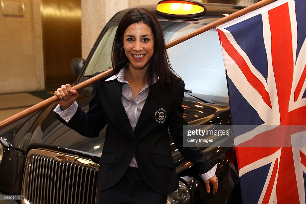 Shelley Rudman, who competes in the Skeleton, poses after she was named the flag bearer for Great Britain during the Great Britain Winter Olympics Welcome Night at the Terminal City Club ahead of the Vancouver 2010 Winter Olympics on February 11, 2010 in Vancouver, Canada.