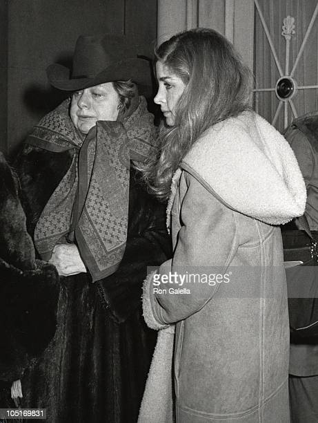 Shelley Winters Blanche Baker during Lee Strasberg's Wake at Campbell's Funeral Parlor in New York City NY United States