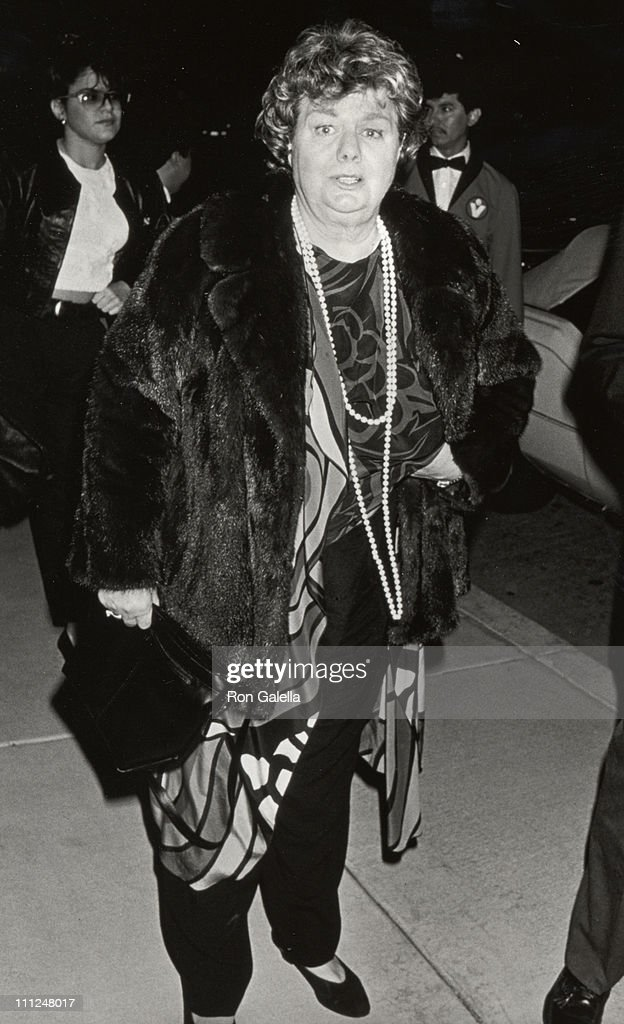 Shelley Winters during Opening Night of 'Durante' & After Party at Shubert Theater & Chasen's Restaurant in Beverly Hills, CA, United States.