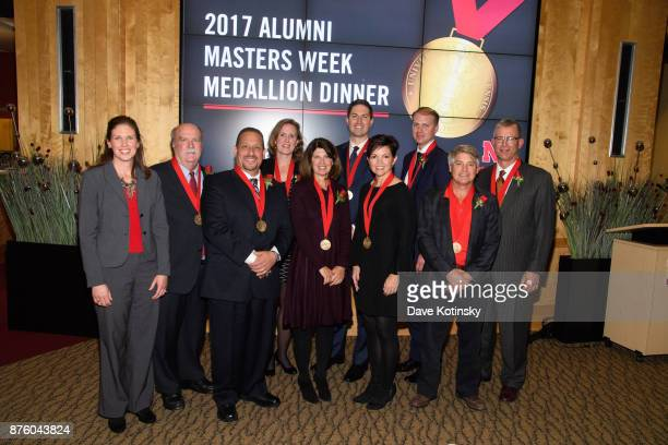 Shelley Zaborowski NAA Executive Director with the 2017 Alumni Masters Left to right Shelley Zaborowski Norman L Newhouse Jaime Gonzalez Christy...