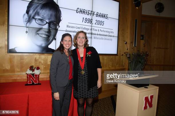 Shelley Zaborowski Nebraska Alumni Association Executive Director and Christy Banks Associate Professor to the Music Department of Millersville...