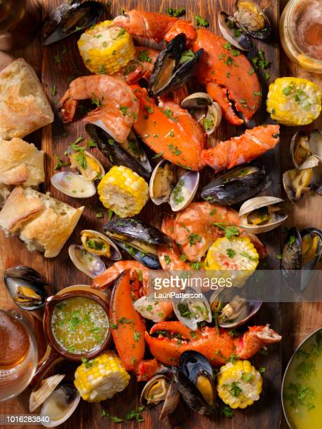 shellfish feast - banquet stock pictures, royalty-free photos & images