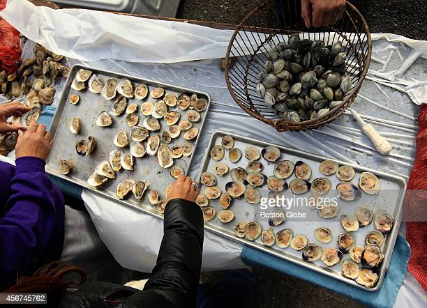 Shellfish was part of the traditional meal served during the fourth We Gather Together a Mashpee Wampanoag Annual Native American Thanksgiving...