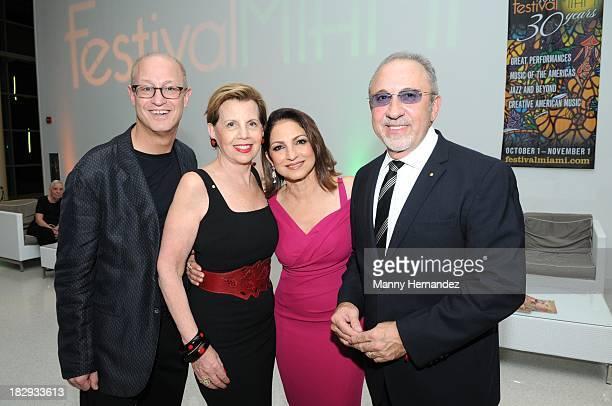 Shelly Berg Adrienne Arsht Gloria Estefan and Emilio Estefan attends Festival Miami's 30th Anniversary Season Kick Off With Gloria Estefan at Frost...