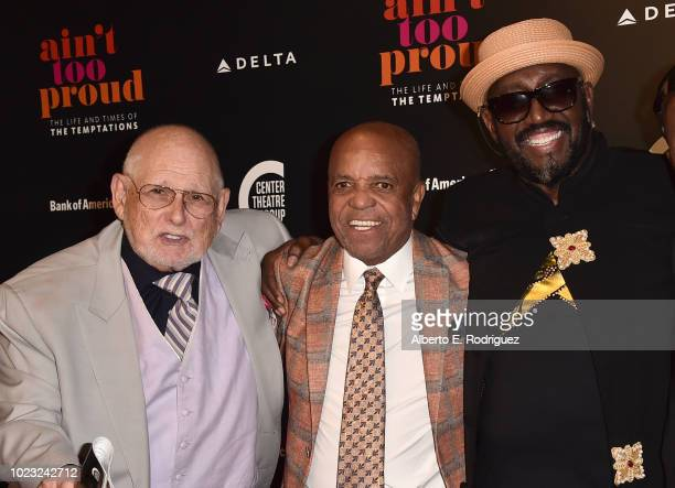 Shelly Berger Berry Gordy and Otis Williams attend the Opening Night of Ain't Too Proud The Life And Times Of The Temptations at the Ahmanson Theatre...