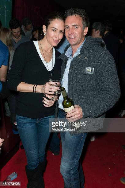 Shelly Brown and Gansevoort Hotel Group COO Elon Kenchington attend Paige Hospitality Group's Third Annual Sundance Football Game Watch on January 19...