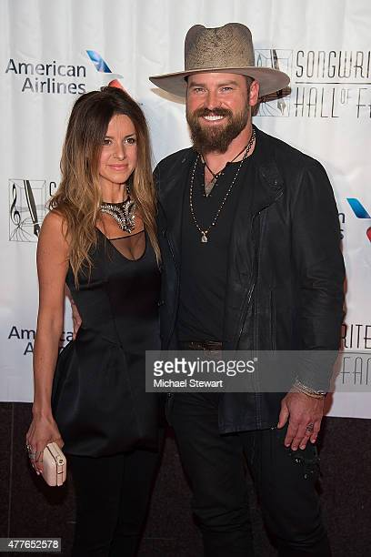 Shelly Brown and singer Zac Brown attend the Songwriters Hall of Fame 46th Annual Induction and Awards at Marriott Marquis Hotel on June 18 2015 in...