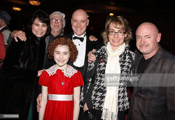 Shelly Burch husband and Annie composer Martin Charnin Lilla Crawford as 'Annie' Anthony Warlow as 'Daddy Warbucks' Gabrielle Giffords and husband...