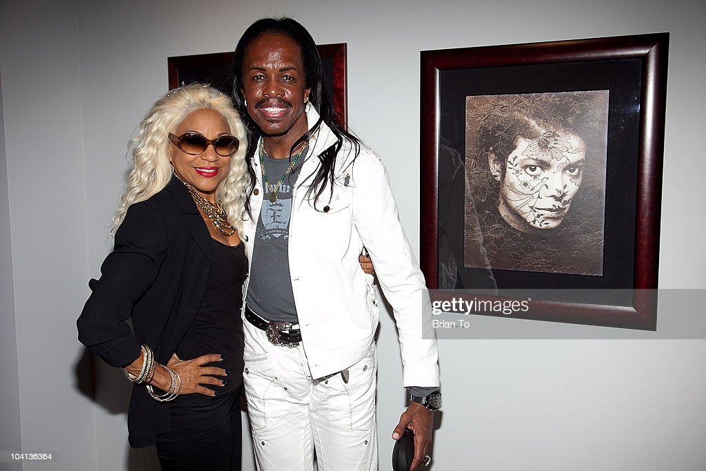 Shelly Clark-White and Verdine White attend the opening night reception of 'Greg Gorman: A Distinctive Vision 1970-2010' at Pacific Design Center on September 15, 2010 in West Hollywood, California.