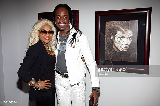Shelly ClarkWhite and Verdine White attend the opening night reception of Greg Gorman A Distinctive Vision 19702010 at Pacific Design Center on...