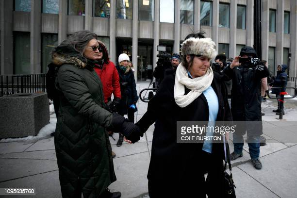 Shelly Kinsman leaves the Toronto Courthouse in Toronto Canada on February 8 2019 after the sentencing of Toronto serial killer Bruce McArthur...