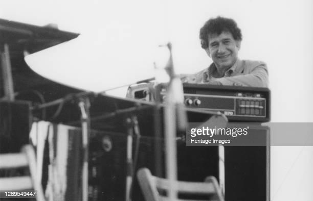 Shelly Manne, Capital Radio Jazz Festival, Alexandra Palace, 1979. Artist Brian Foskett.