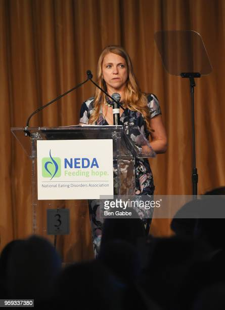 Shelly Steinwurtzel speaks onstage during the National Eating Disorders Association Annual Gala 2018 at The Pierre Hotel on May 16 2018 in New York...