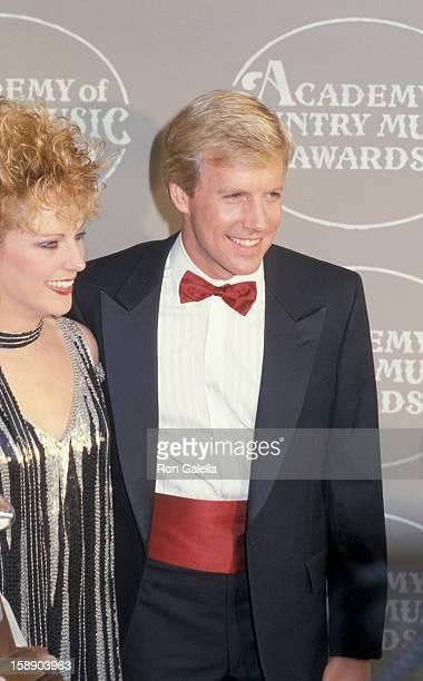 Shelly West and actor Jameson Parker attend 20th Annual Academy of Country Music Awards on May 6 1986 at Knott's Berry Farm in Buena Park California