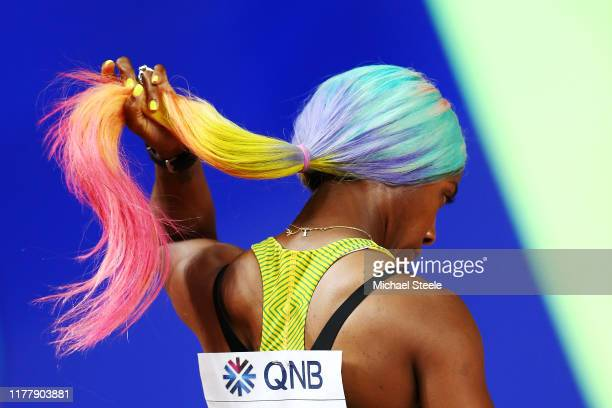 ShellyAnn FraserPryce of Jamaica prepares to compete in the Women's 100 Metres semifinal during day three of 17th IAAF World Athletics Championships...
