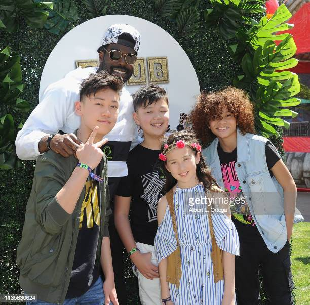 Shelson Bailey and friends arrive for Clubhouse Kidchella held at Pershing Square on April 6 2019 in Los Angeles California