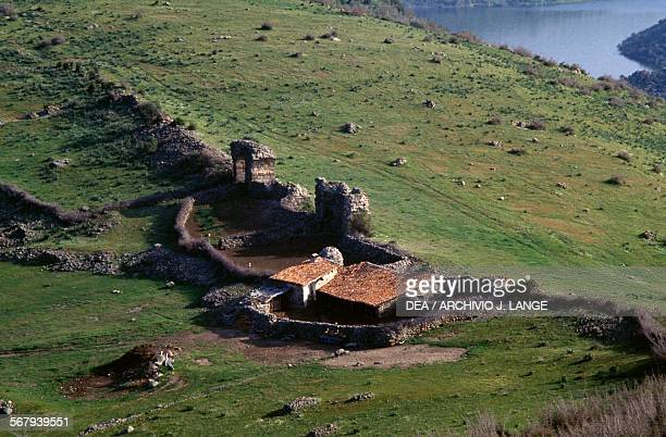 Shelter for sheep housed in a stretch of the ancient walls, in Pergamon , Bergama, Turkey. Hellenistic and Roman civilizations, 4th-1st century BC.