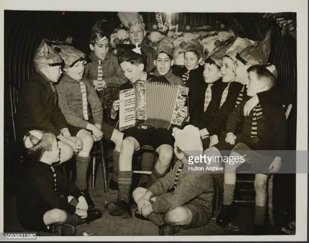 Shelter Fun Blitz or no blitz these boys of this Dr Barnardo 's home were determined to spend their Christmas as usual and did so by making use of...