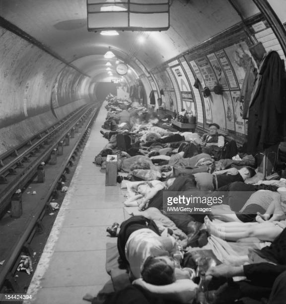 Shelter Photographs Taken In London By Bill Brandt November 1940 Elephant and Castle London Underground Station Shelter People sleeping on the...