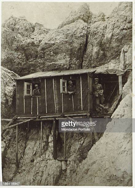 ARMY Shelters at 2500 metres altitude on Tofane Belluno 1916 Gelatine process Rome Central Museum of the Risorgimento
